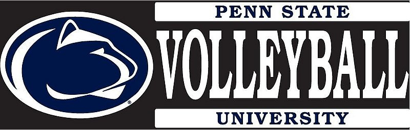 "Penn State University Volleyball Decal - 6"" x 2"" Nittany Lions (PSU)"