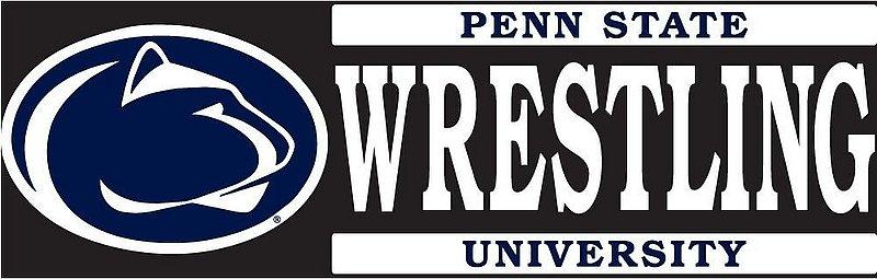 "Penn State University Wrestling Decal - 6"" x 2"" Nittany Lions (PSU)"