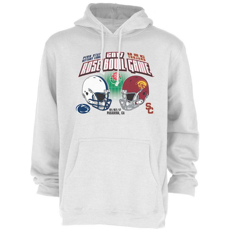 Penn State Vs USC Rose Bowl Hooded Sweatshirt White Nittany Lions (PSU) RUMOR TOR16 2T-TOR16