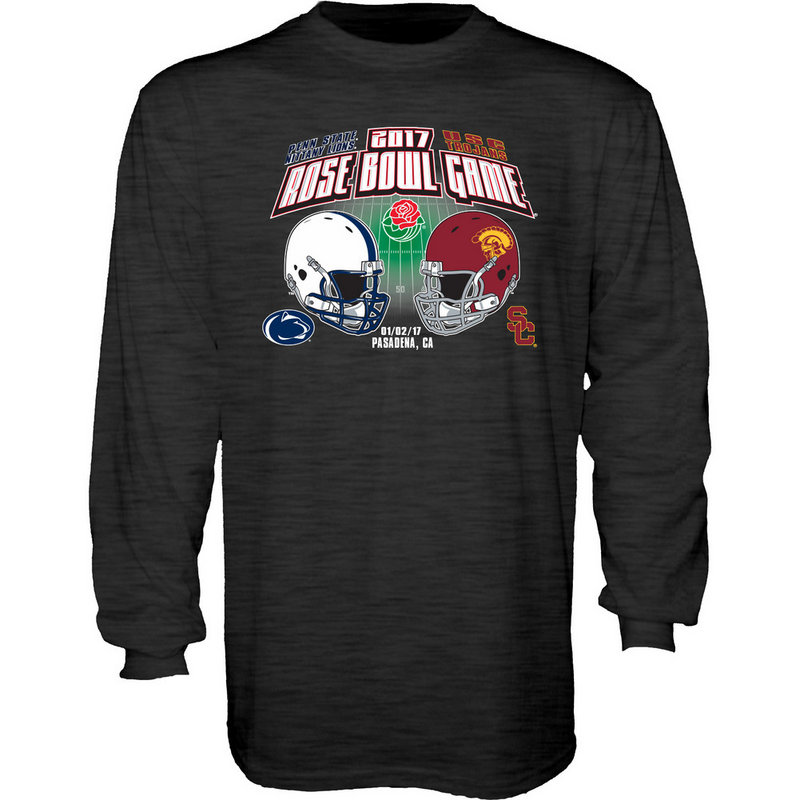 Penn State Vs USC Rose Bowl Long Sleeve Shirt Dark Heather Nittany Lions (PSU) RUMOR-TOR16-2T_PJM5_PSUUSC_TLFR_DK-HEATHER