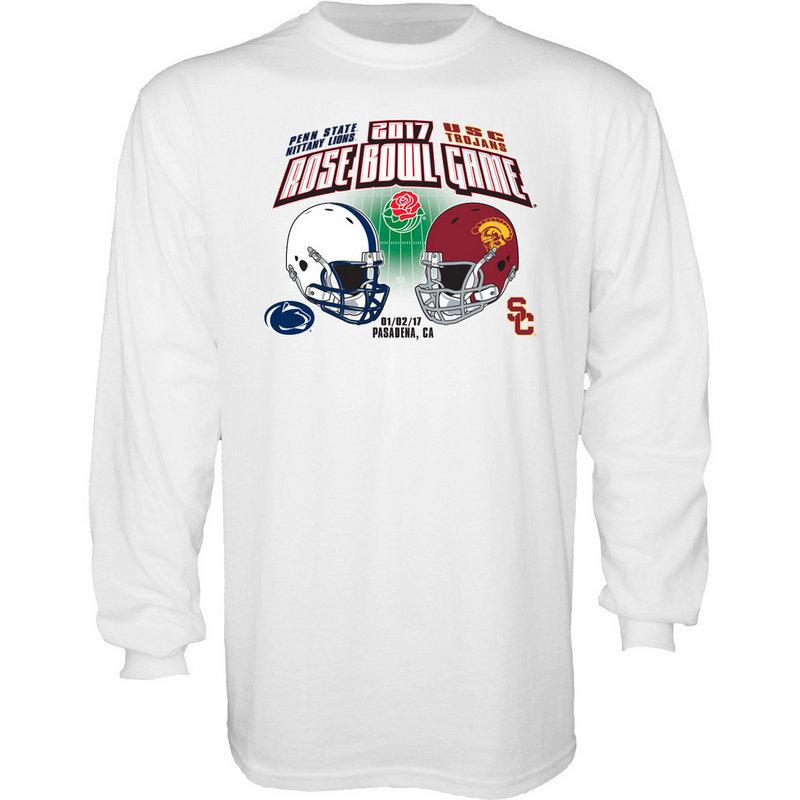 Penn State Vs USC Rose Bowl Long Sleeve Shirt White bce365039fcf