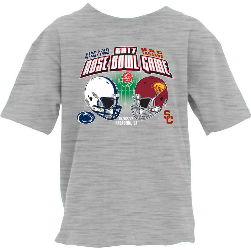 Penn State Vs USC Rose Bowl Youth T Shirt Gray Nittany Lions (PSU) RUMOR TOR16 2T-TOR16