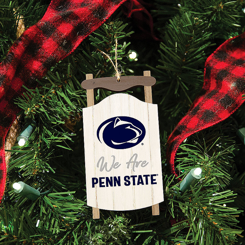 Penn State We Are Script Snow Sled Holiday Ornament Nittany Lions (PSU)
