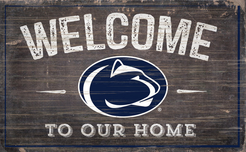 Penn State Welcome to Our Home Wood Sign 11in x 19in Nittany Lions (PSU)