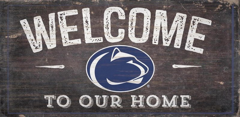 Penn State Welcome to Our Home Wood Sign Nittany Lions (PSU)