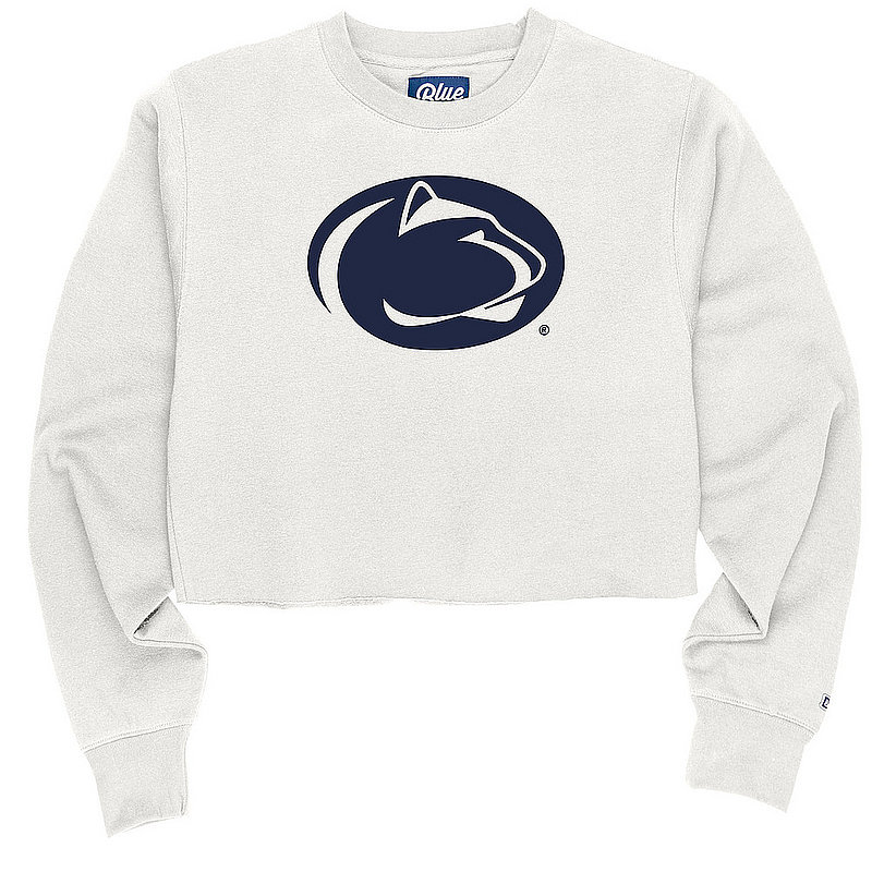 Penn State White Lion Head Raw Edge Crop Crew Nittany Lions (PSU)