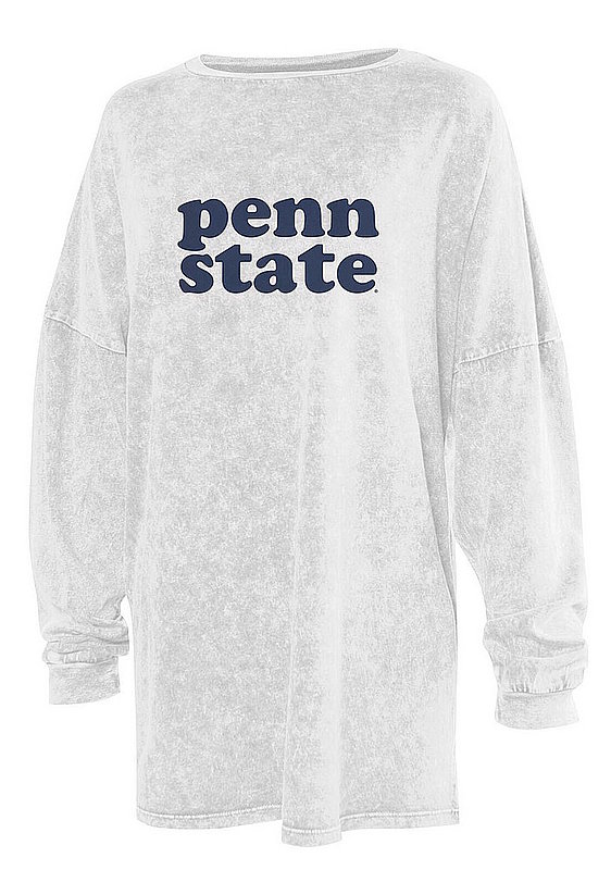 Penn State White Oversized Mineral Wash Long Sleeve Nittany Lions (PSU)