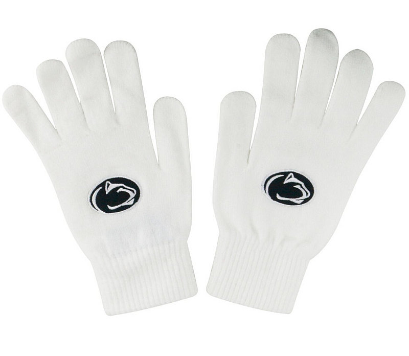 Penn State White Winter Lion Head Gloves Nittany Lions (PSU)