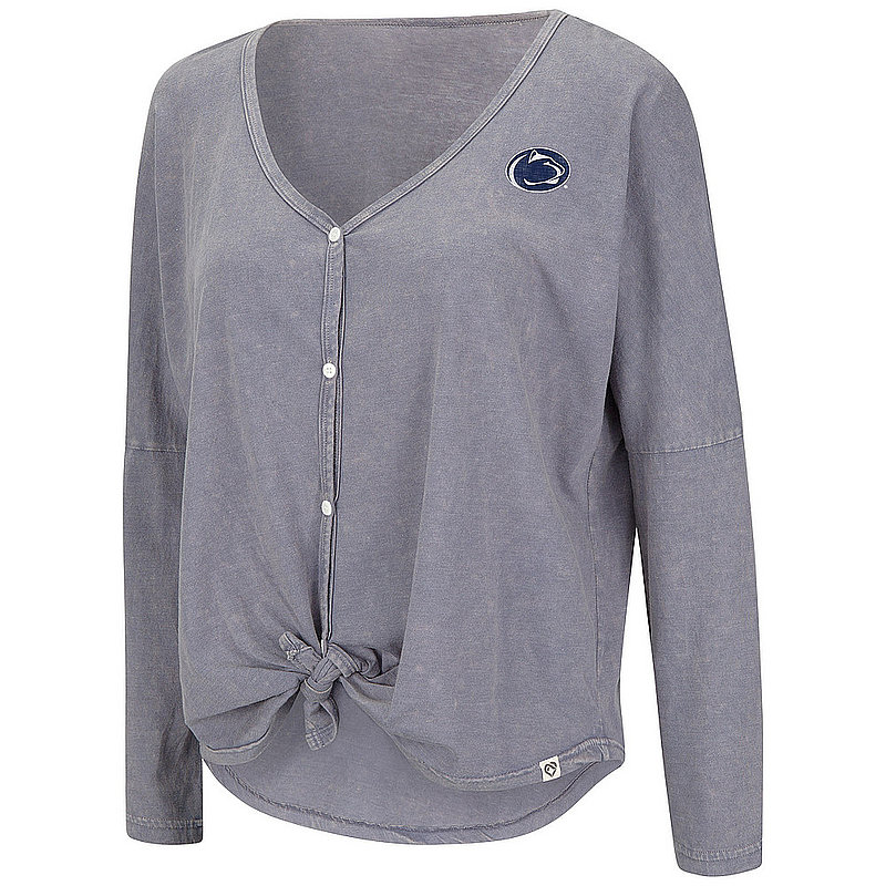 Penn State Women's Button Tie Knot Long Sleeve Nittany Lions (PSU)