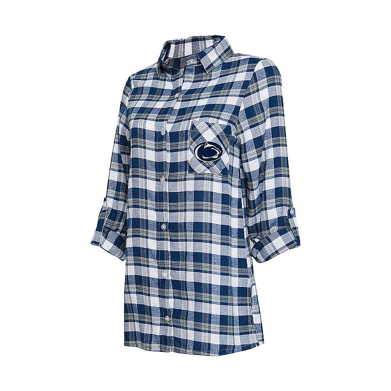 Penn State Women's Flannel Night Shirt Nittany Lions (PSU)