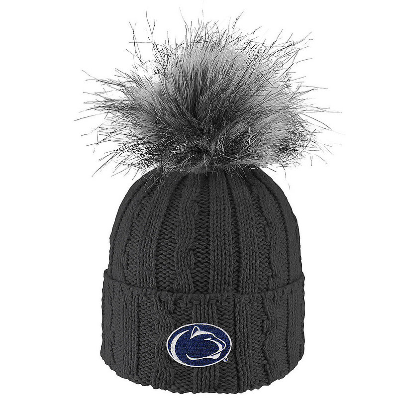 Penn State Women's Fur Pom Hat Charcoal Nittany Lions (PSU)