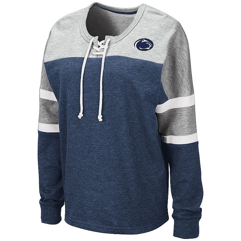 Penn State Women's Manolo Lace Up Pullover Crew Nittany Lions (PSU)