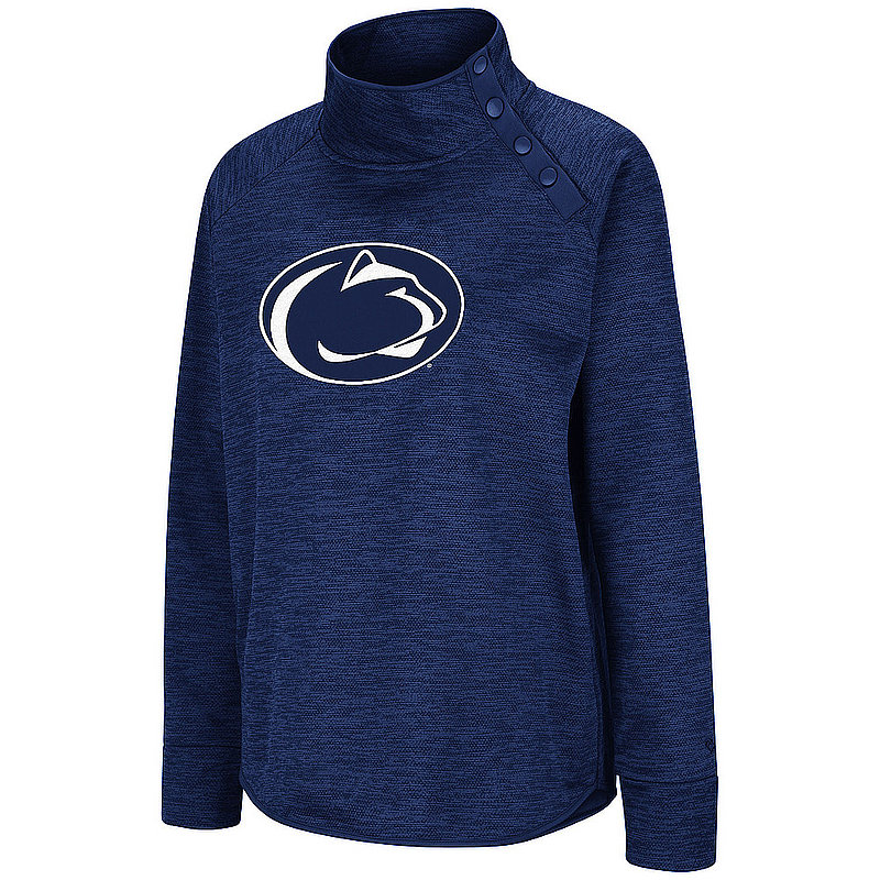 Penn State Women's Marled Performance Side Snap Pullover Jacket Nittany Lions (PSU)