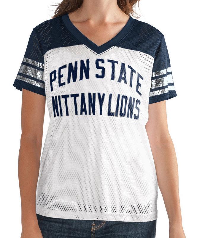 Penn State Women's Mesh Jersey Shirt Nittany Lions (PSU)