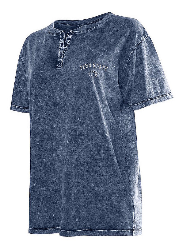 Penn State Women's Mineral Wash Henley Tee Nittany Lions (PSU)