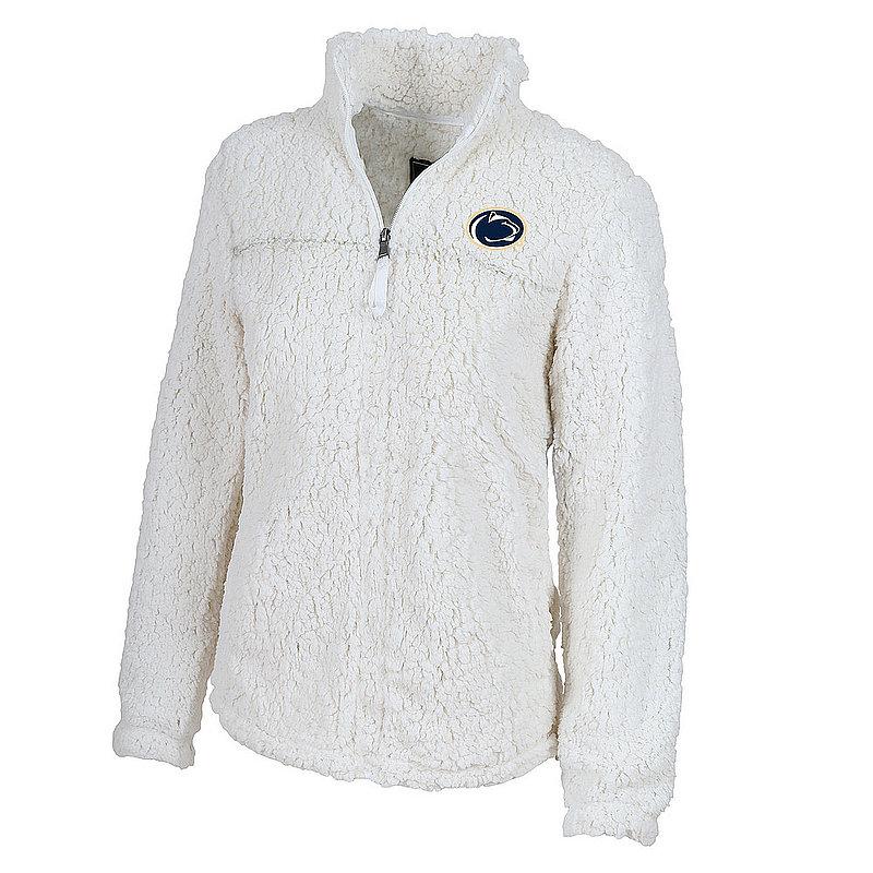 Penn State Women's Natural White Sherpa Quarter Zip Nittany Lions (PSU)