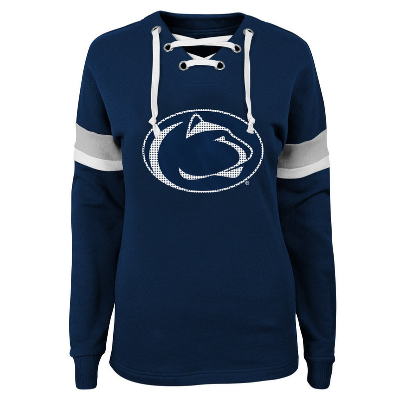Penn State Women's Navy Retro Game Lace-Up Varsity Crew Nittany Lions (PSU)