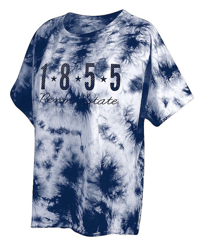 Penn State Women's Navy Tie Dye Slouchy Tee Nittany Lions (PSU)