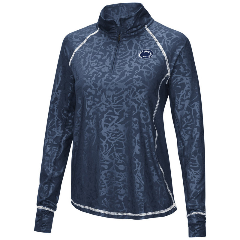 Penn State Women's Performance Quarter Zip Navy with Design Nittany Lions (PSU)