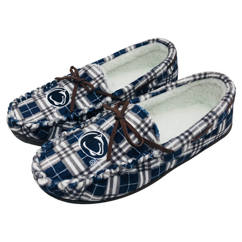Penn State Women's Plaid Moccasin Slippers Nittany Lions (PSU)