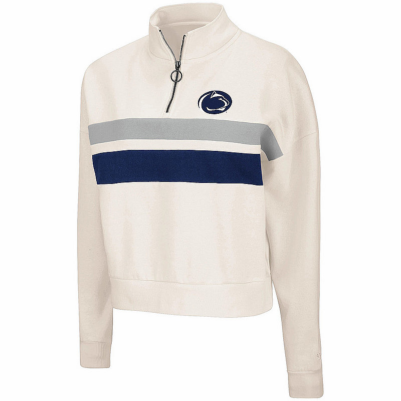 Penn State Women's Retro Oatmeal 1/4 Zip Pullover