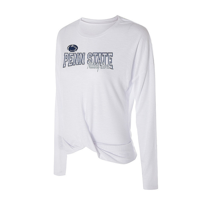 Penn State Women's Ribbed Knit Long Sleeve Twist Top Nittany Lions (PSU)