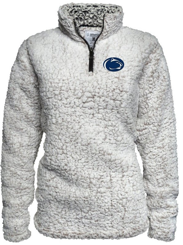 Penn State Womens Oatmeal Sherpa Quarter Zip Nittany Lions (PSU) 4510T