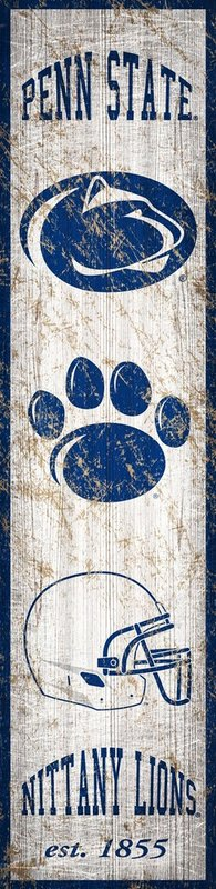 Penn State Wood Heritage Banner Sign Nittany Lions (PSU)
