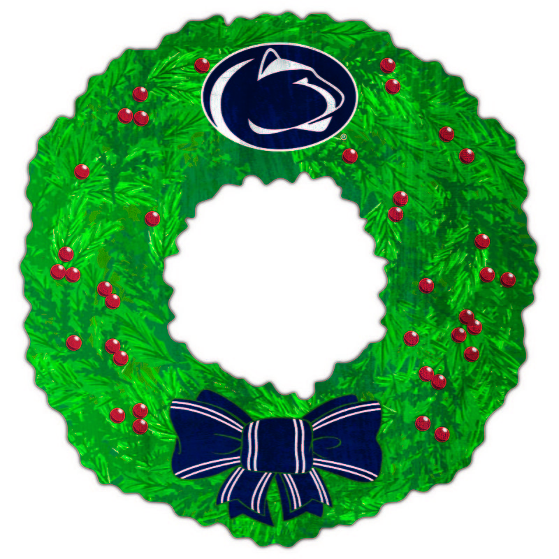 Penn State Wood Holiday Wreath Nittany Lions (PSU)