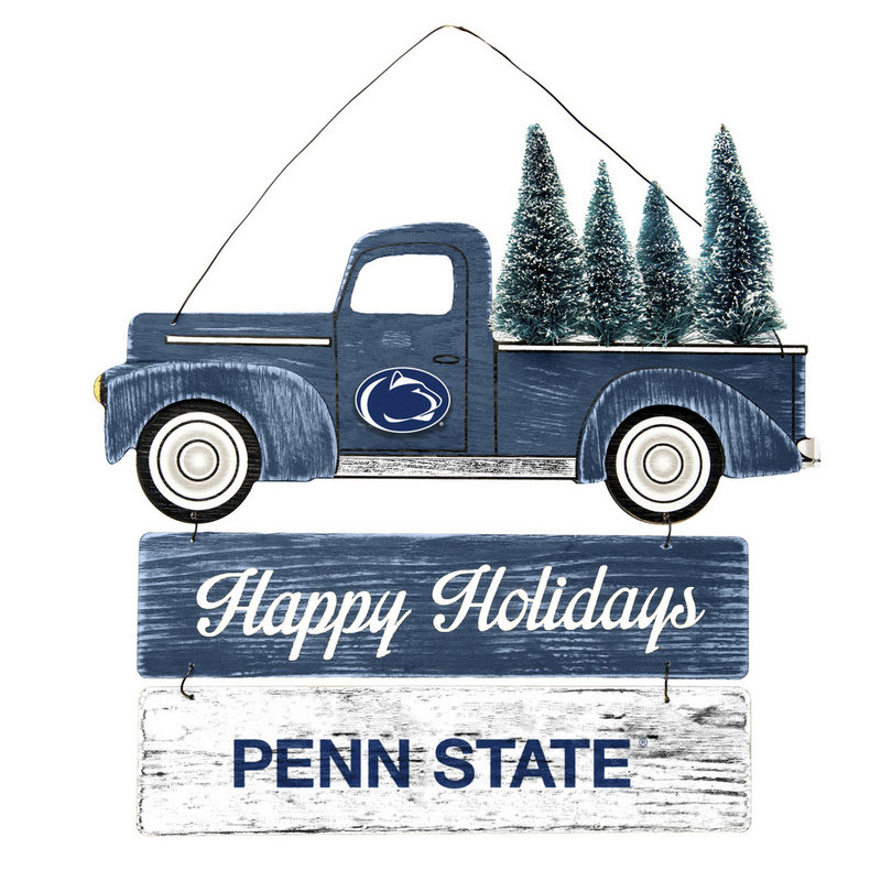 Penn State Wooden Truck With Tree Sign Nittany Lions (PSU)