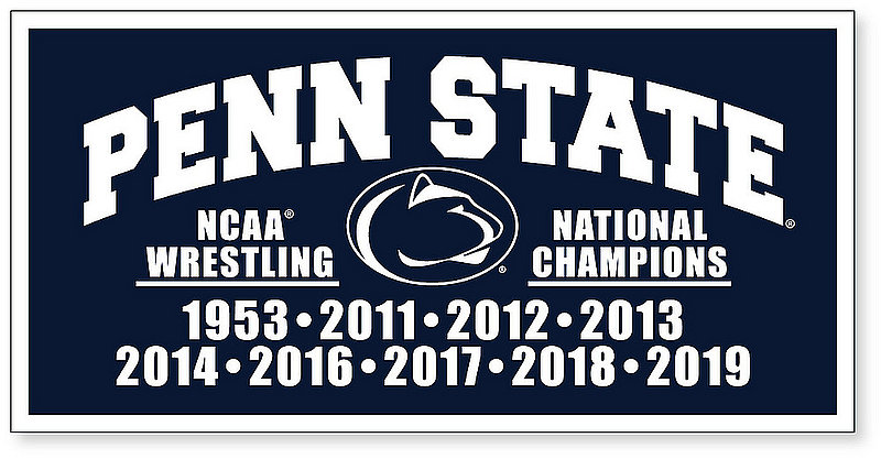 Penn State Wrestling National Champs Banner Nittany Lions (PSU)