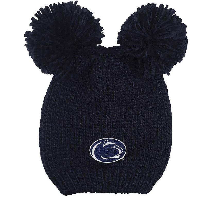 Penn State Youth Double Pom Knit Hat Navy Nittany Lions (PSU)
