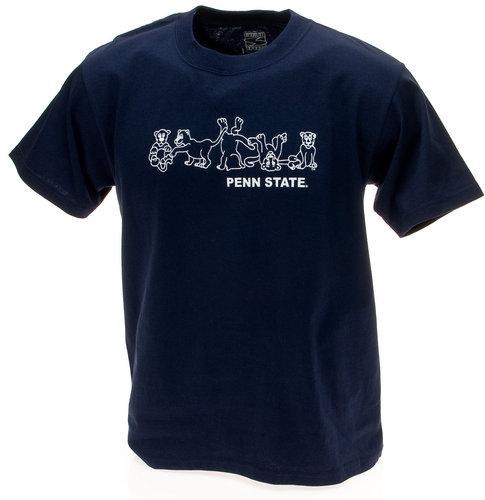 Penn State Youth T-Shirt Navy Tumbling Lions Nittany Lions (PSU)