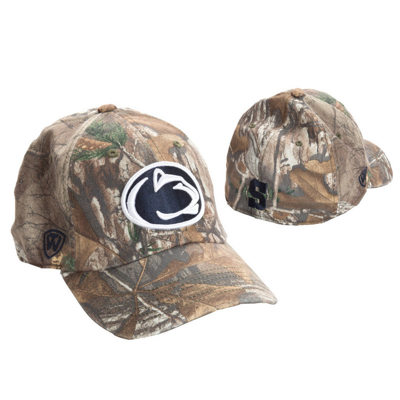 Real Tree Penn State Nittany Lions Camouflage Hat Fitted Nittany Lions (PSU) (Real Tree)