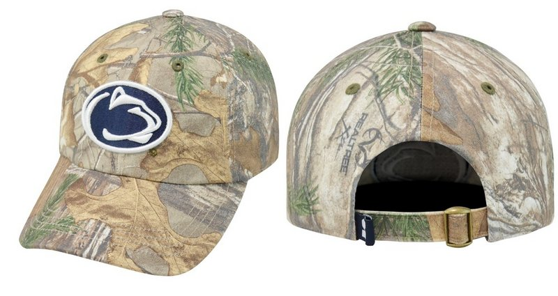 Real Tree Penn State Youth Camo Hat Adjustable Nittany Lions (PSU) (Real Tree)