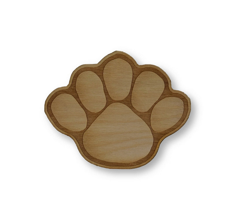 Penn State Small Wood Paw Magnet