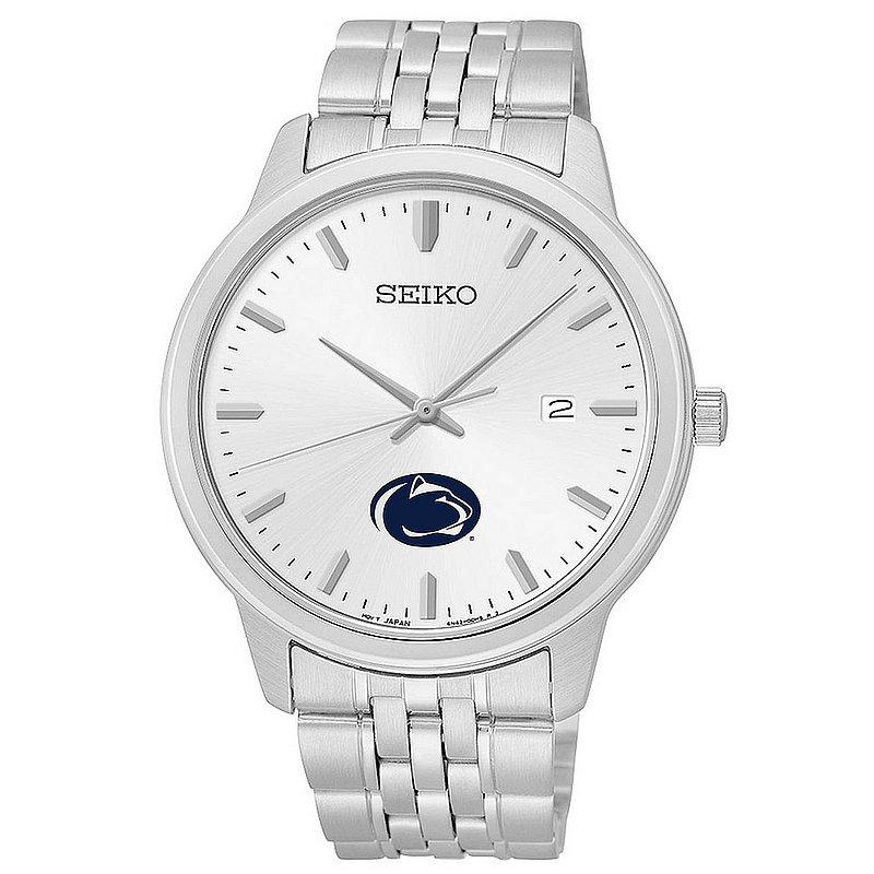 SEIKO Penn State Mens Stainless Steel Seiko Watch Nittany Lions (PSU) (SEIKO)