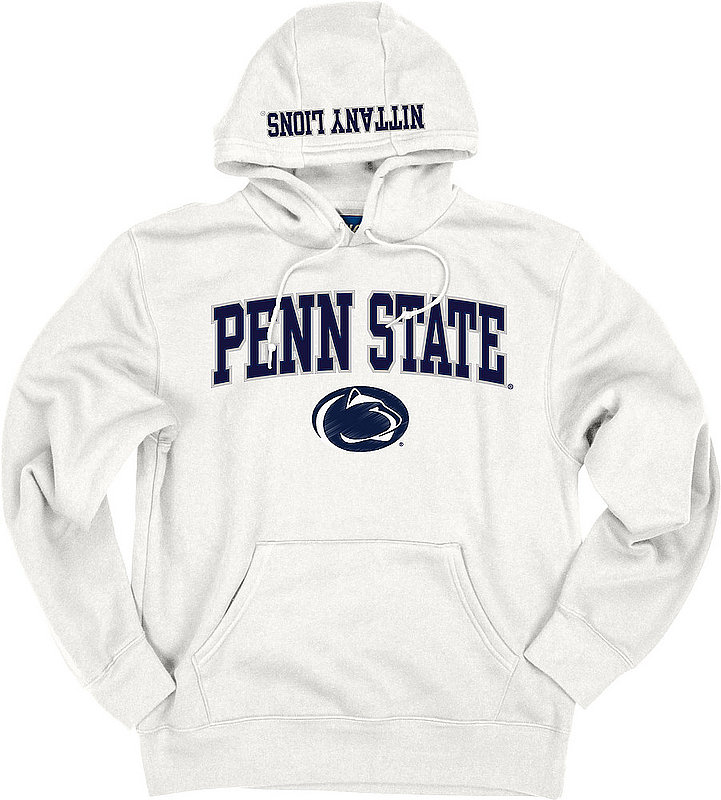 Top of the World Penn State Embroidered Hooded Sweatshirt White Nittany Lions (PSU) (Top of the World )