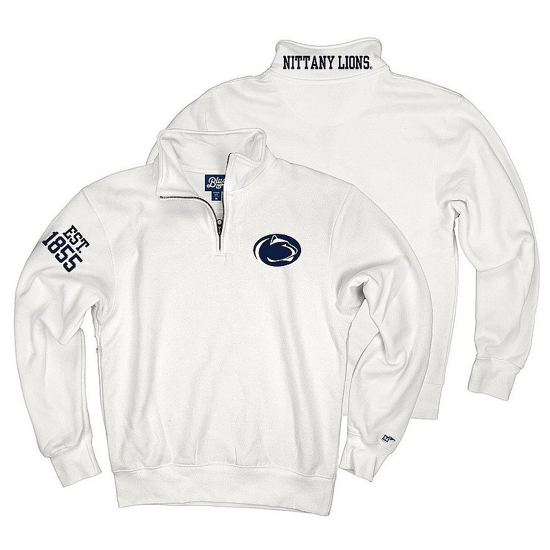 Top of The World Penn State Embroidered Premium Fleece Quarter Zip White Nittany Lions (PSU) (Top of The World )