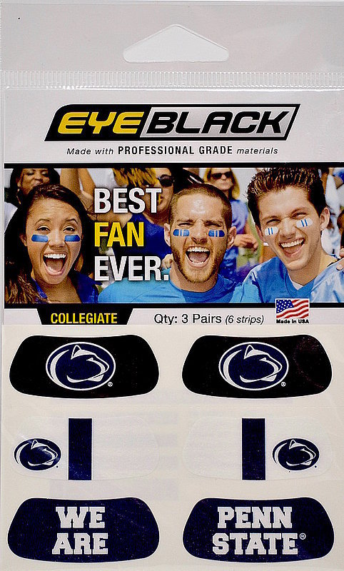 We Are Penn State Eye Black Face Stickers