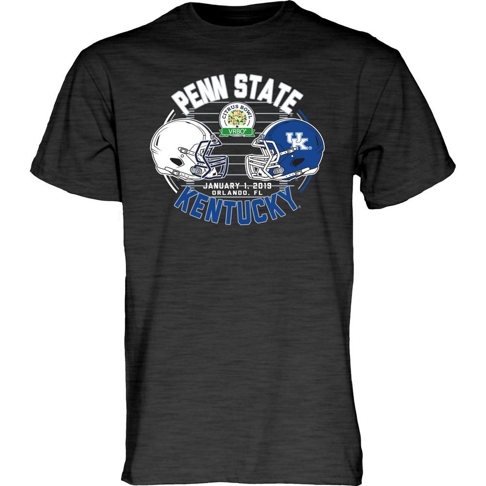 Penn State 2019 Citrus Bowl Helmets T-Shirt Black Heather ...