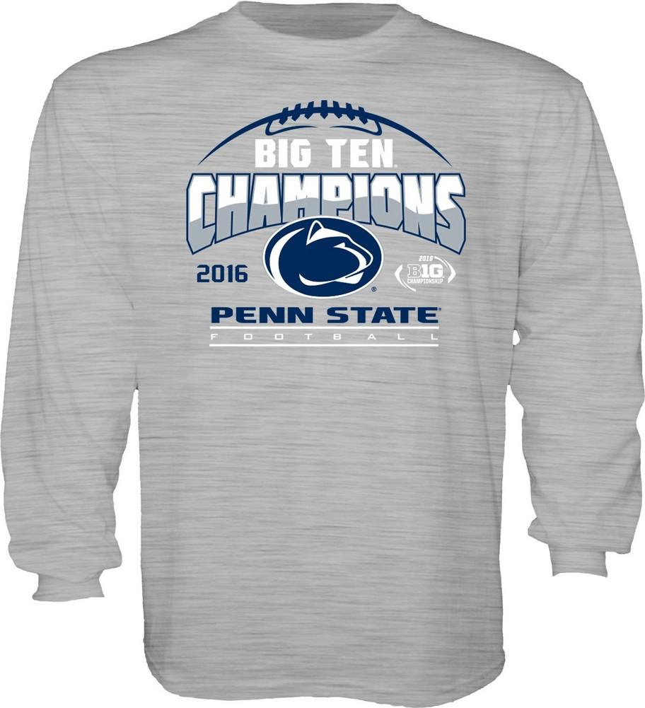 4826c07ad980 Penn State Football Big Ten Champs Youth Long Sleeve Tshirt Gray 2016