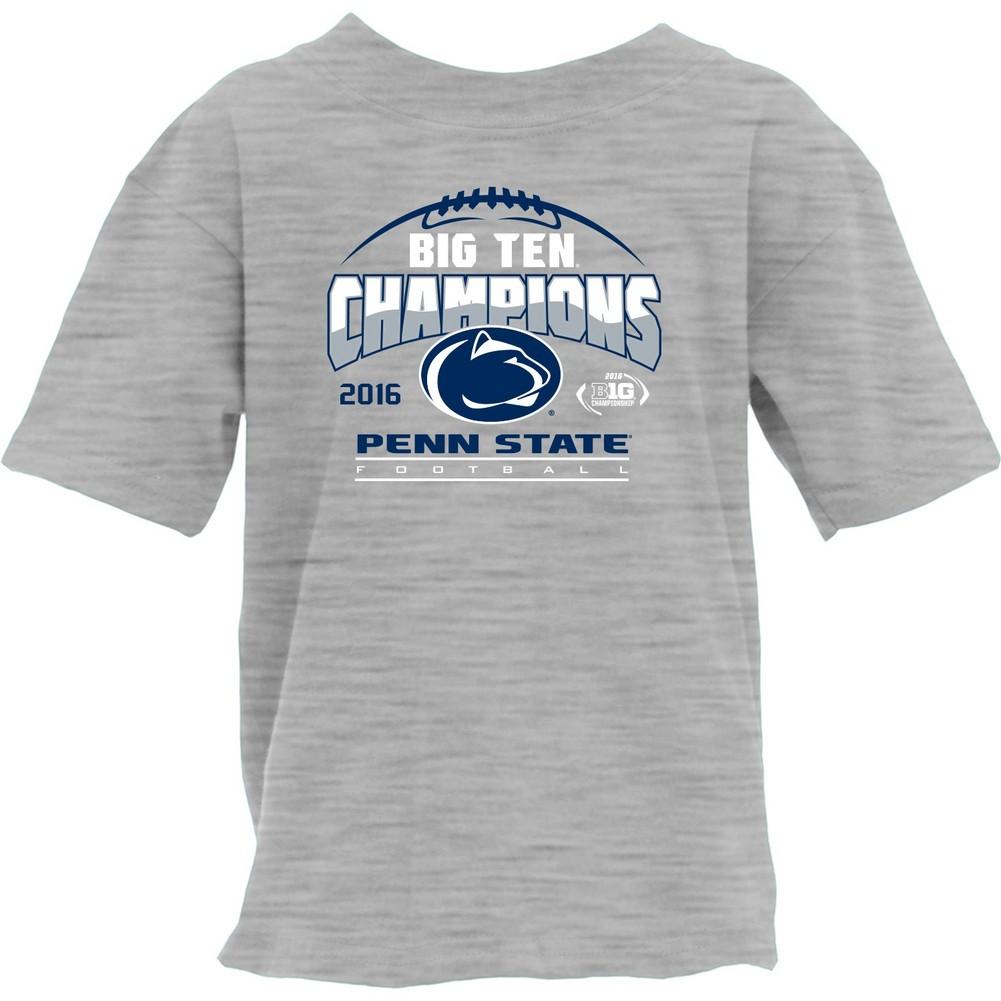 f5e28fad4f4 Penn State Football Big Ten Champs Youth Tshirt Gray 2016 Nittany ...