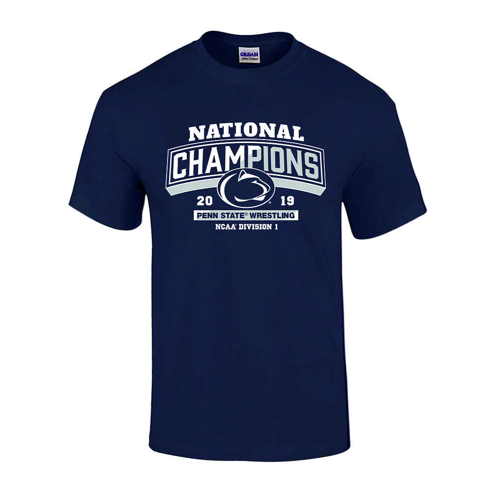 6c6c544ed Penn State 2019 Wrestling NCAA National Champions T-Shirt Nittany ...