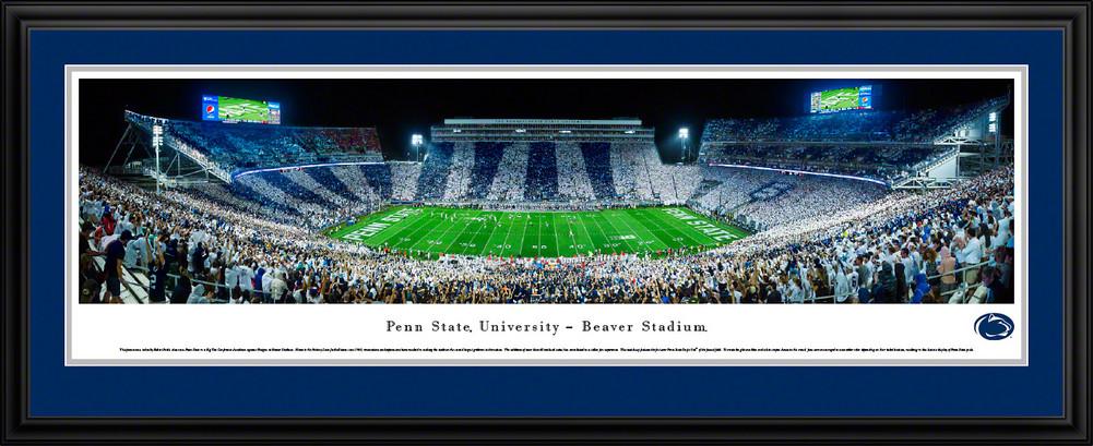 Penn State Beaver Stadium Panorama Stripes Deluxe Framed