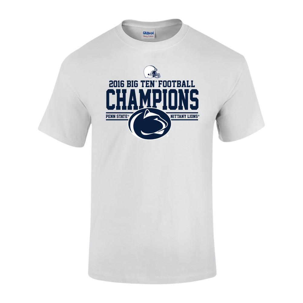 d36656f228a Penn State Football Big Ten Champs Tshirt White 2016 Nittany Lions ...