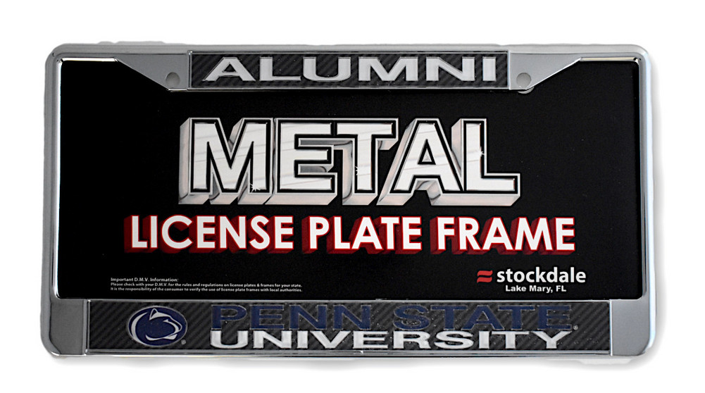 Penn State University Inlaid Alumni Metal License Plate