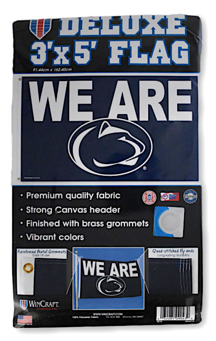 Penn State Nittany Lions Grommet Flag We Are NCAA PSU Licensed 3/' x 5/'