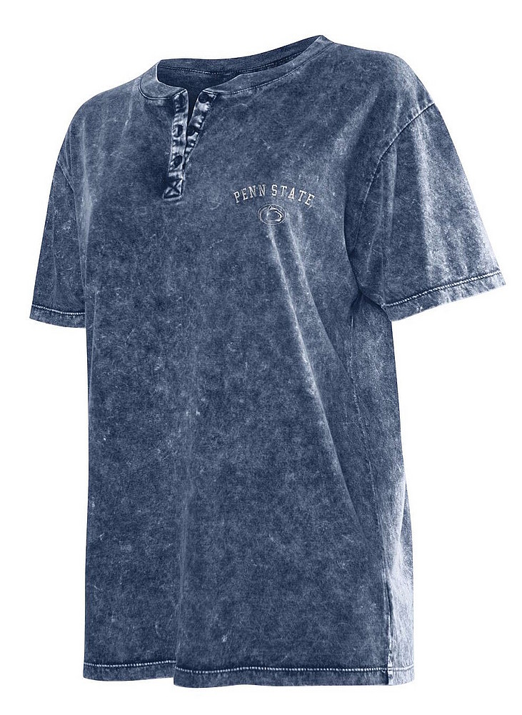 Penn State Women S Mineral Wash Henley Tee Nittany Lions Psu