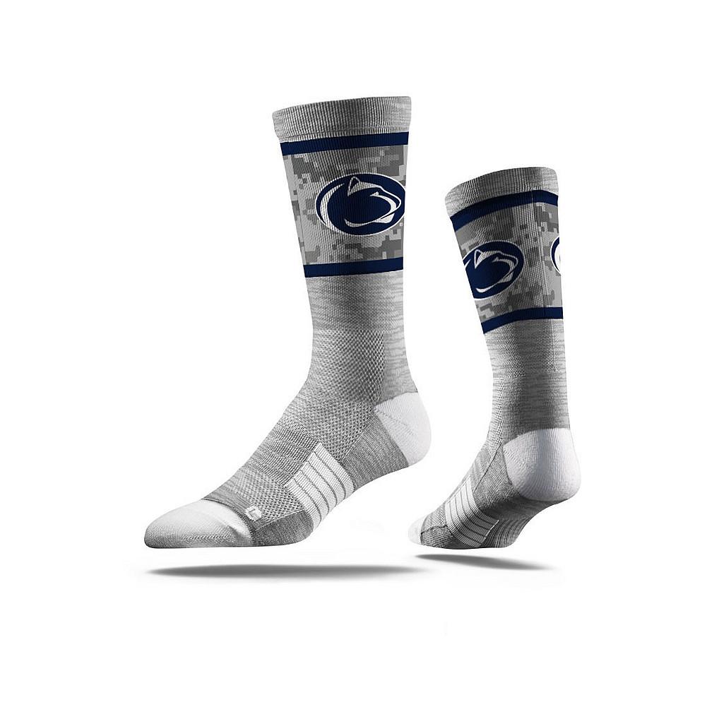 557f0044a94 Penn State Grey Digital Camo Crew Socks Nittany Lions (PSU)